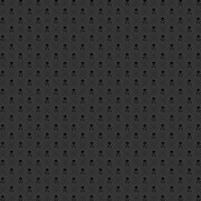 Grey Plaid with Skulls