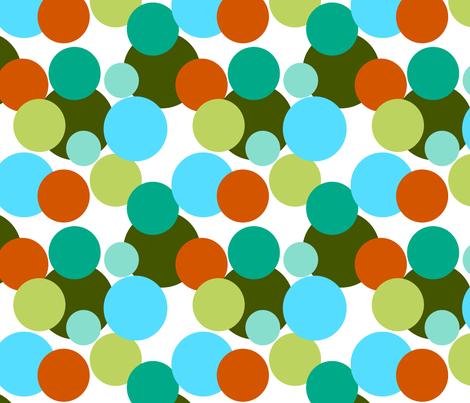 Fall_multi_color_circles fabric by mayabella on Spoonflower - custom fabric