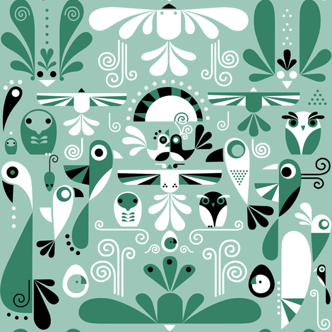 Birds Absolutely Do Not See the World This Way fabric by theboerwar on Spoonflower - custom fabric