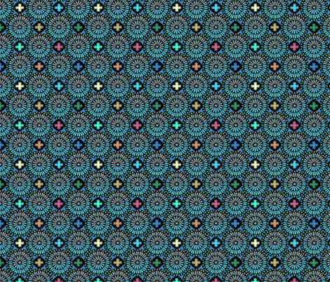 ©2011 therosewindow blue fabric by glimmericks on Spoonflower - custom fabric