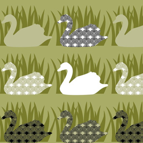 Swan Tattoo - pond slime