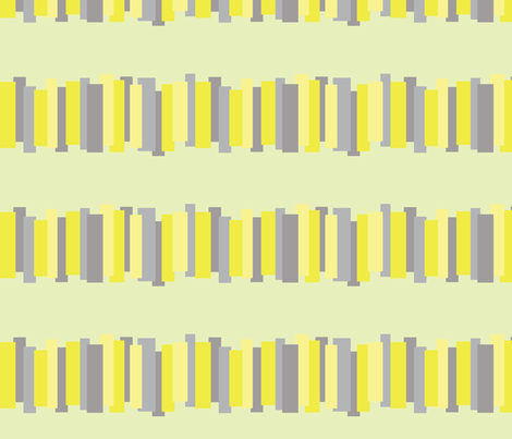 Color Block Keys in Citrus and Grey fabric by bluenini on Spoonflower - custom fabric