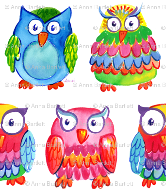 Wise Owls by Anna Bartlett