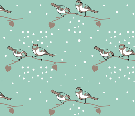 Sweet Tweets fabric by chelsgus on Spoonflower - custom fabric