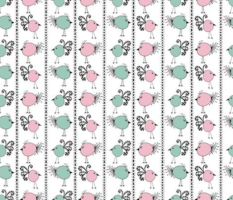 Birdy-Doodle-dee-do fabric by amywtsn on Spoonflower - custom fabric
