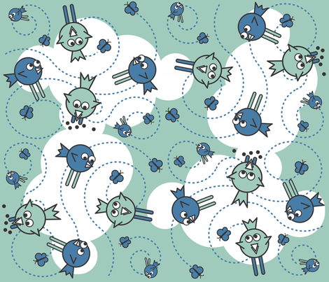 joeyinaz_bird fabric by joeyinaz on Spoonflower - custom fabric
