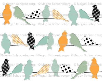 Mod Birds on a Line