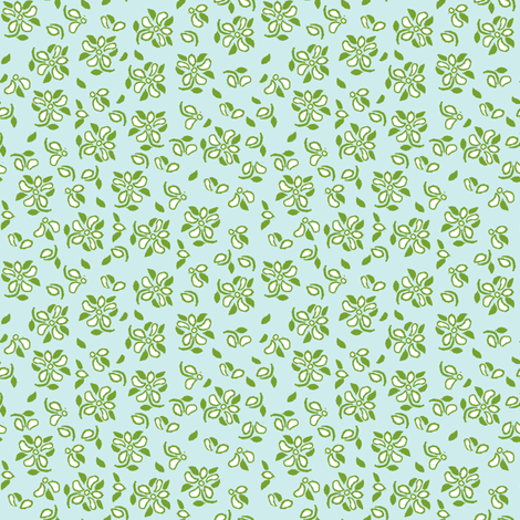 eyelet_4_green, white blue green fabric by khowardquilts on Spoonflower - custom fabric