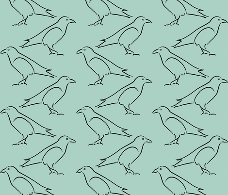 Crow or Raven? fabric by mina on Spoonflower - custom fabric