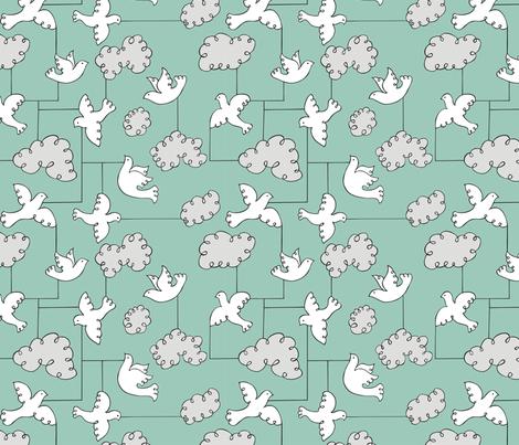 modern bird fabric by minimiel on Spoonflower - custom fabric