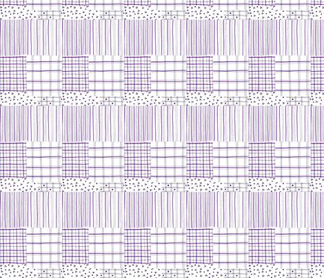 fiber pen tartan lilac fabric by mimi&me on Spoonflower - custom fabric