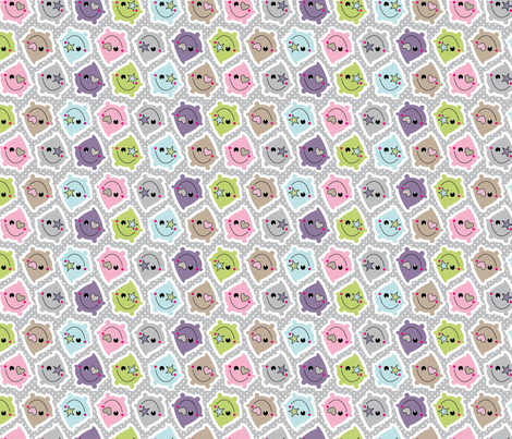 Raindrops fabric by wantit on Spoonflower - custom fabric
