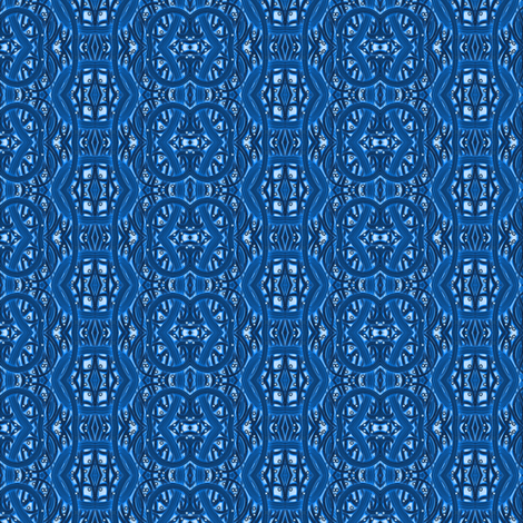 Blue Relief fabric by angelsgreen on Spoonflower - custom fabric