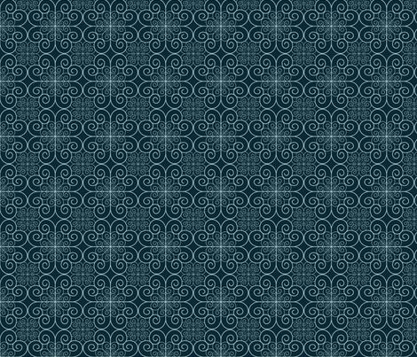 blue swirls fabric by suziedesign on Spoonflower - custom fabric