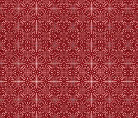 red swirls fabric by suziedesign on Spoonflower - custom fabric