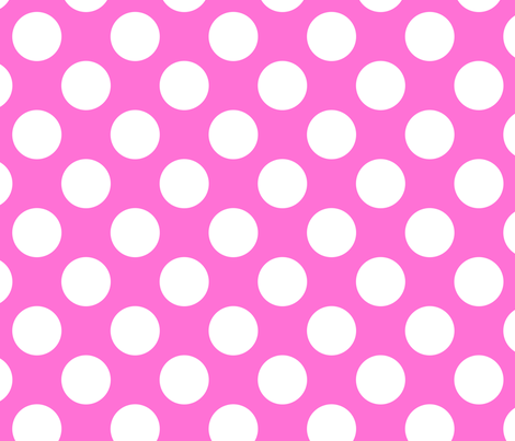 Extra large pink and white polka dots 2 fabric for Red and white polka dot pattern