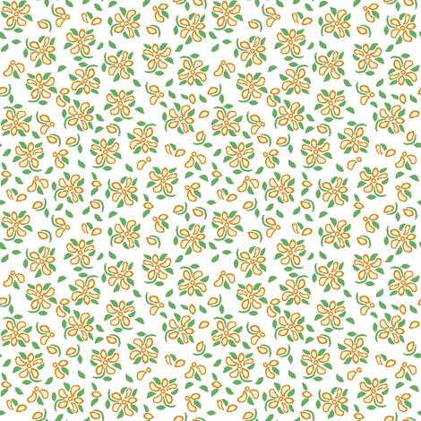 eyelet_4_f orange and white fabric by khowardquilts on Spoonflower - custom fabric