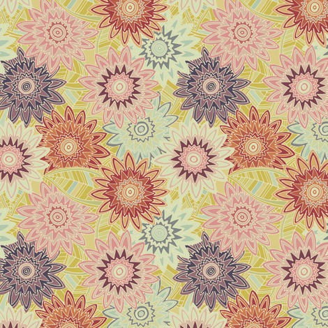 springtime flowers vintage small fabric by scrummy on Spoonflower - custom fabric