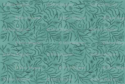 Allover Vine minagreen outlined-vines