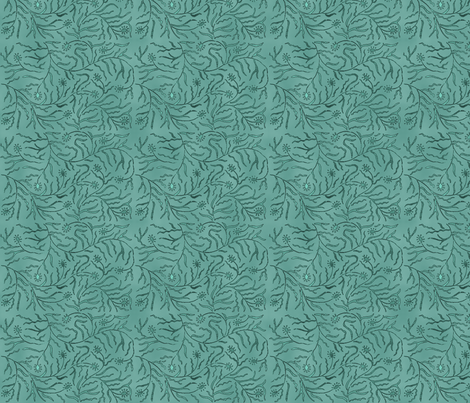 Allover Vine minagreen outlined-vines fabric by mina on Spoonflower - custom fabric