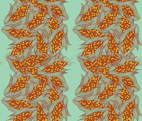 Indian Corn fabric by lauradejong on Spoonflower - custom fabric