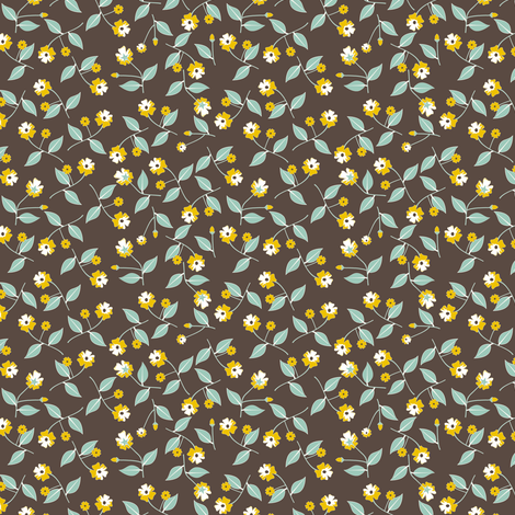 All About the Flowers - SoFt Brown fabric by inscribed_here on Spoonflower - custom fabric