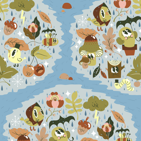 Rainy Day! fabric by yukittenme on Spoonflower - custom fabric