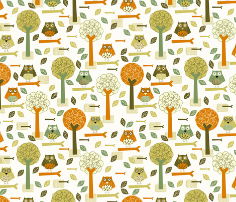 Autumn Forest fabric by mondaland on Spoonflower - custom fabric