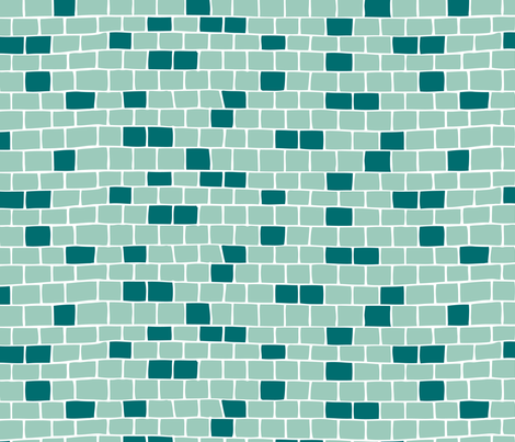 Tiles - blue fabric by noaleco on Spoonflower - custom fabric
