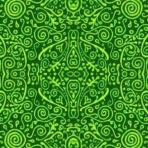 bridal mendhi - lime green