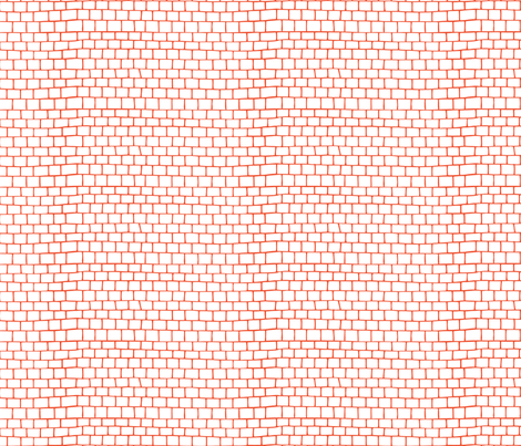 Small Tiles - tangerine fabric by noaleco on Spoonflower - custom fabric