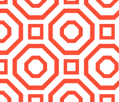 Geometry Flame fabric by alicia_vance on Spoonflower - custom fabric