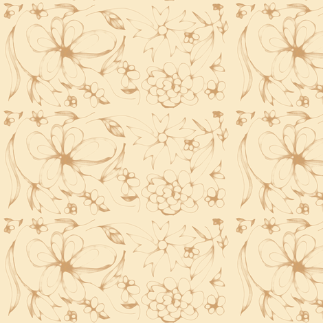 Flowers in the Sand fabric by vaslittlecrow on Spoonflower - custom fabric