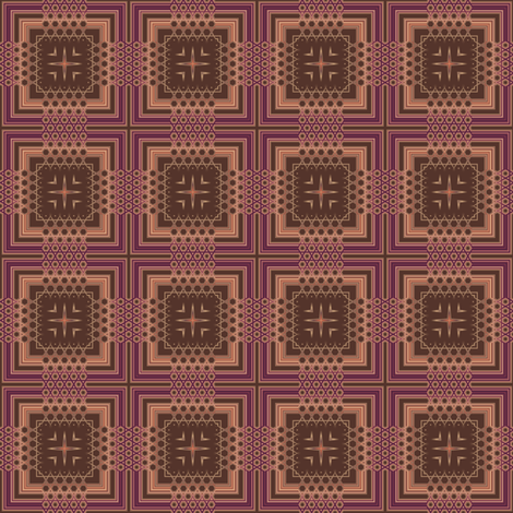 Wine and Chocolate Plaid with Stars© Gingezel™ 2011 fabric by gingezel on Spoonflower - custom fabric