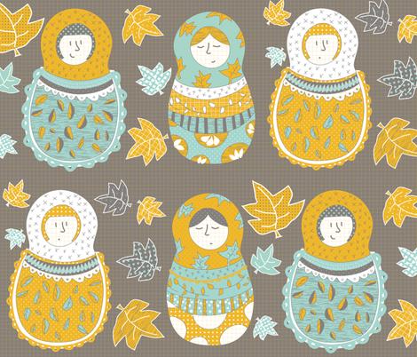 Autumnish Mamushkas fabric by catru on Spoonflower - custom fabric