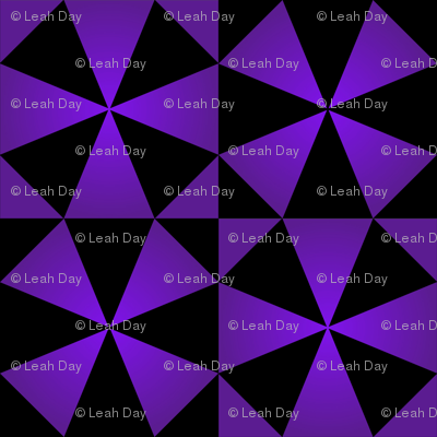 Purple Stars Cheater Cloth Quilt