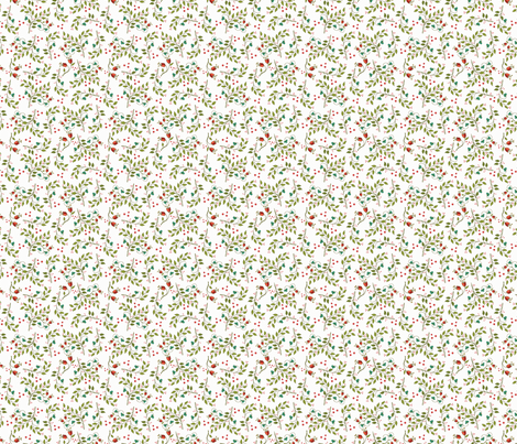 Russian Foliage-ditsy white fabric by leslipepper on Spoonflower - custom fabric