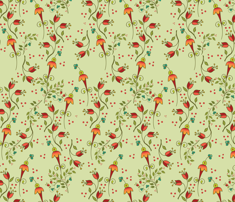 Russian Floral-ditsysage fabric by leslipepper on Spoonflower - custom fabric