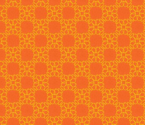 yelloworangeflower fabric by vena903 on Spoonflower - custom fabric