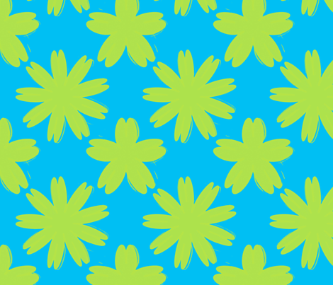 blueyellowflowers fabric by vena903 on Spoonflower - custom fabric