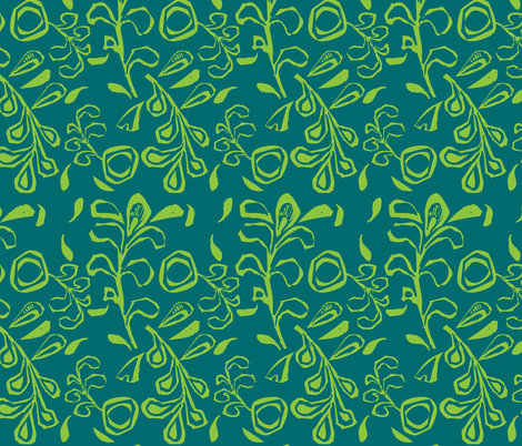 Vines and Leaves  fabric by gsonge on Spoonflower - custom fabric
