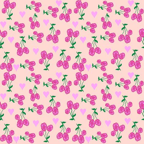 ADitzyHeartsAnRedRoses fabric by grannynan on Spoonflower - custom fabric