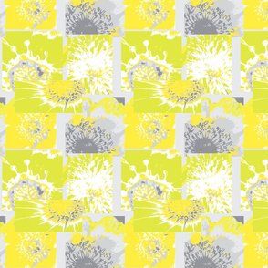 Flower Centers - Grey & Yellow