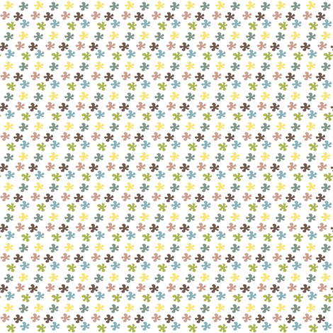 Fower in colors white fabric by sawabona on Spoonflower - custom fabric