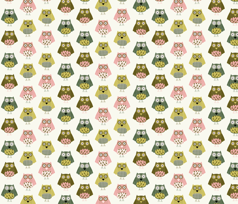 Autumn Owls fabric by mondaland on Spoonflower - custom fabric