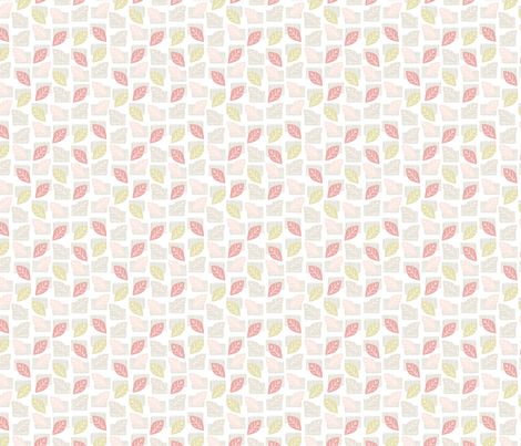 little leaves fabric by mondaland on Spoonflower - custom fabric