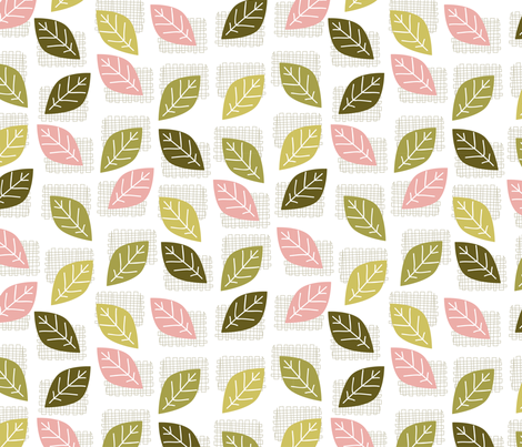leaves (2) fabric by mondaland on Spoonflower - custom fabric