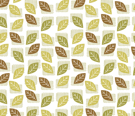 leaves (3) fabric by mondaland on Spoonflower - custom fabric