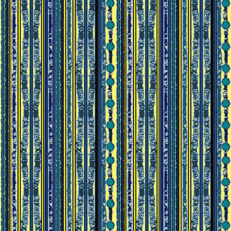 Yellow & Blue Stripes fabric by karendel on Spoonflower - custom fabric