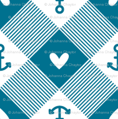 anchor gingham in blue